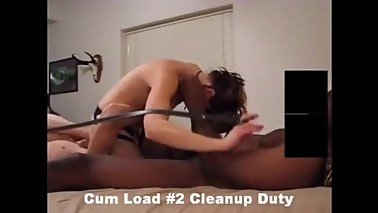 Masked Wife Keeps Her Cleanup Cuck in Chastity