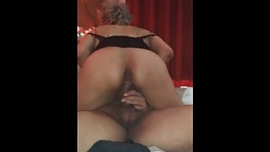 Latina wife rides tf out of hubby till she cums