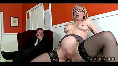 Gorgeous blonde mommy mounts sons boss in his faceckold-9761 02 big-4