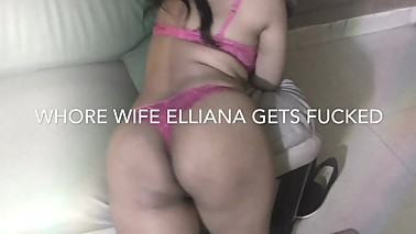 Whorewife Elliana Z rides new cock while hubby films