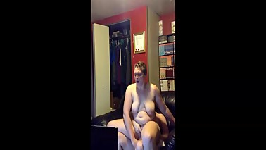 Dirty wife and the webcam anal fuck with double penetration