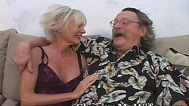 Mature Couple Swings With Young Cock