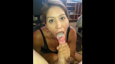Milf Wife & Cuck - Cuck Fucking His Wife From Behind Until Cum In Her Mouth