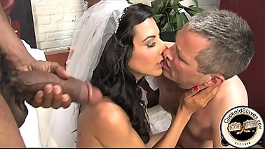 French bride meets black bull for sex