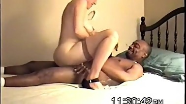NastyPlace.org - White Housewife Spreads For Her Black Fucker