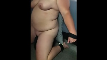 Cuckolding wife being warmed up for her bull ( pre-workout )