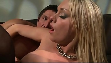 Pissed off wife fucks her lover and then her husband