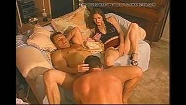 Wife watches husband fuck her cuckold friend